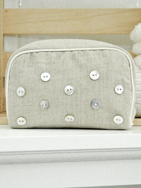 Cosmetic Bag With Mother Of Pearl