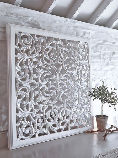 Large carved wall panel design 1 wl nordic house for Large 3d wall art