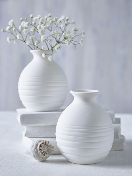 Mini White Round Vase Nordic House