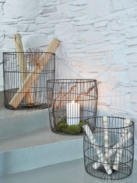 Large Wire Basket Set Nordic House
