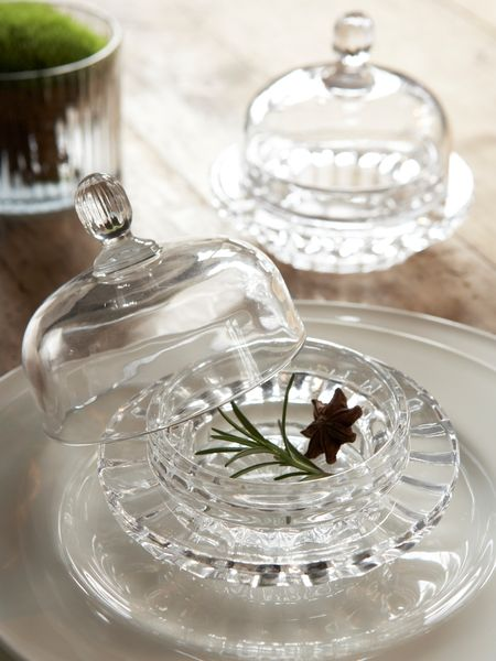 Mini Glass Bell Dish