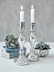 Small Mercury Silver Candlestick