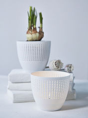 Bone China Tealight Holder - Dots