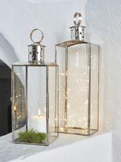 Elegant Silver and Glass Lanterns