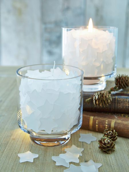 Filled Glass Hurricane Lamp - Heavenly Dream