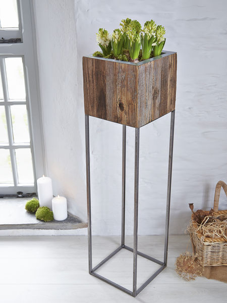 Tall Reclaimed Wood Planter