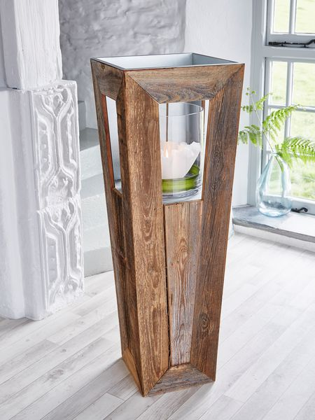 Tall Reclaimed Wood Hurricane