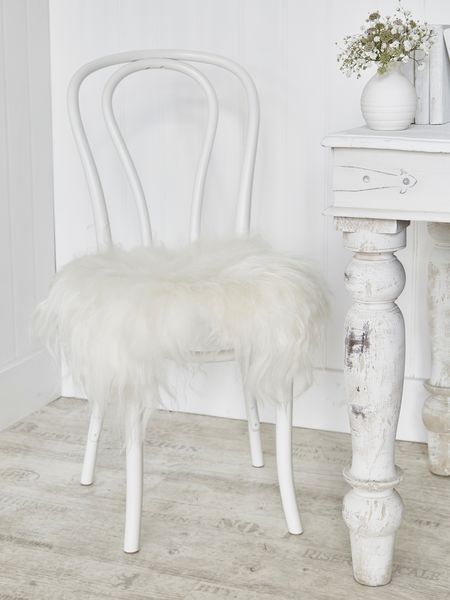 Icelandic Sheepskin Seat Cover - Off White