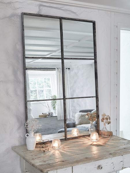 Loft style window mirror 6xab for Miroir mural rectangulaire grande taille