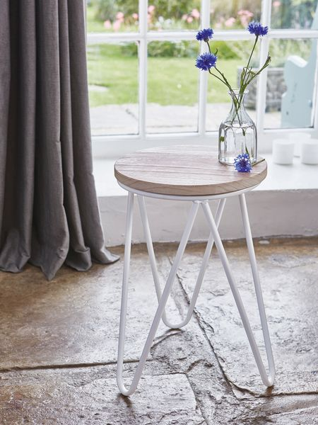 Contemporary Stool - White