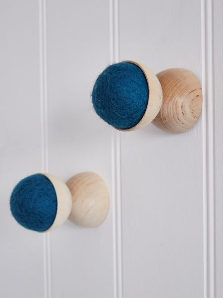 Hand-Crafted Wall Hanger - Petrol Blue