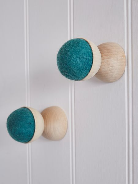 Hand-Crafted Wall Hanger - Teal