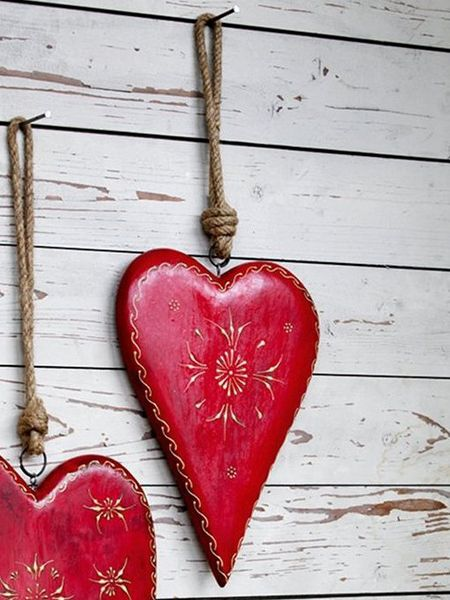 Hand Painted Wooden Heart