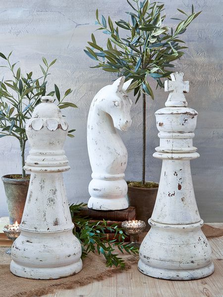 Huge Decorative Chess Pieces