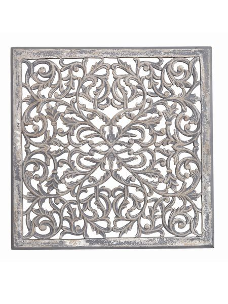 Large carved wooden wall panel nordic house