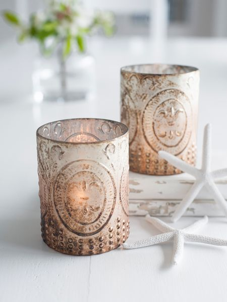 Antique Copper Embossed Tealights