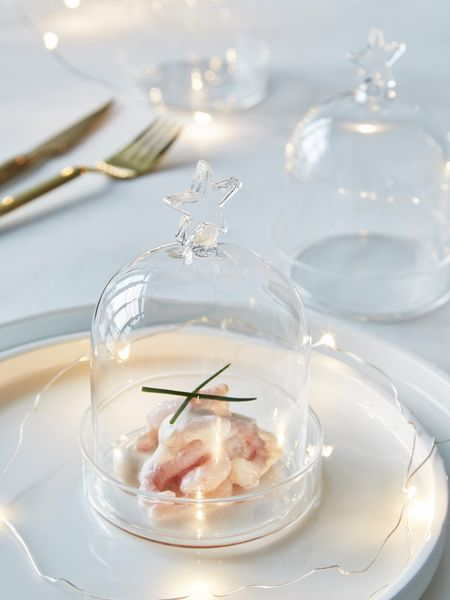 Star Bell Jar with Tray