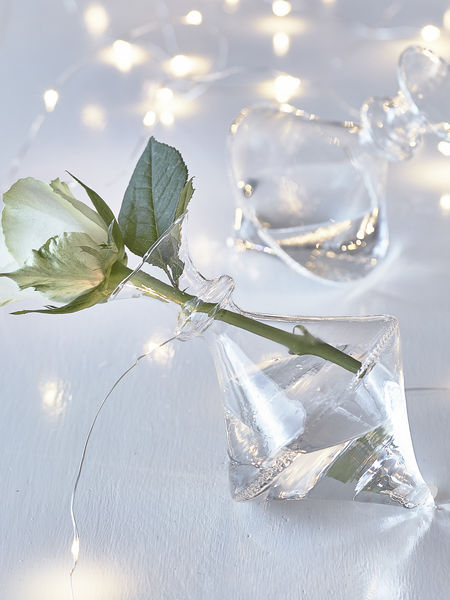 Reclining Glass Vase - Clear