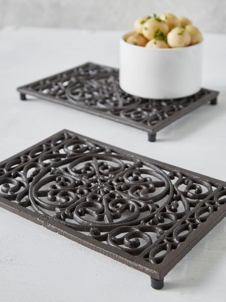 Rectangular Cast Iron Trivet