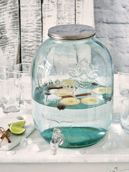 Glass Drink Dispenser with Tap - L