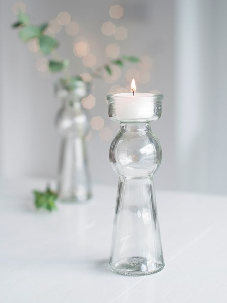 Stylish Tealight Vases - Clear