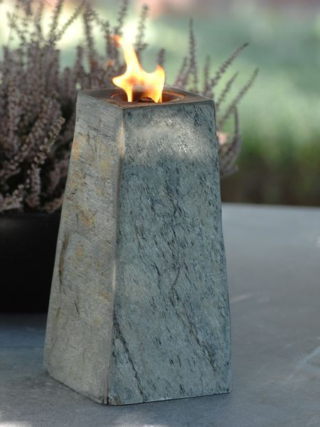 Rustic Slate Oil Lamp