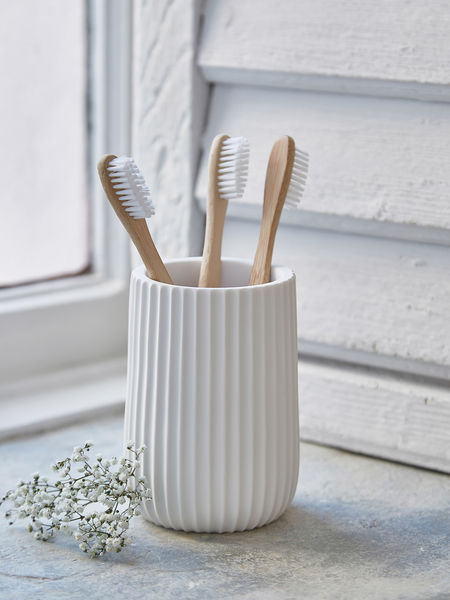 White Toothbrush Holder