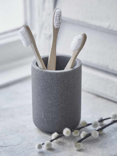 Toothbrush Mug - Concrete Grey