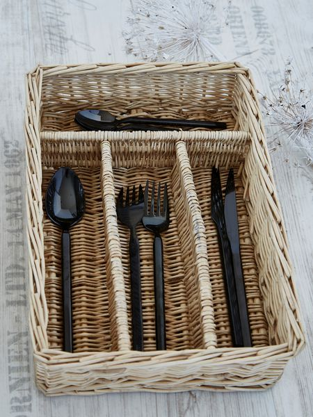 Natural Willow Cutlery Tray