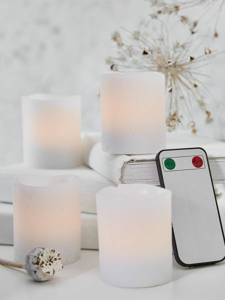 Remote Control White LED Candles