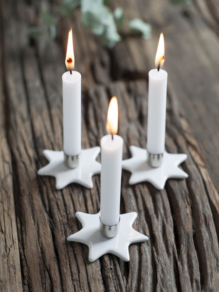 Mini Star Candle Holders - Set 6