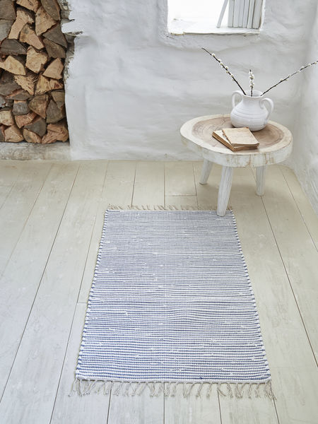 Striped Cotton Rug - 60x90cm