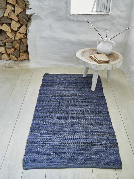 Cotton and Leather Rug - 70x140cm