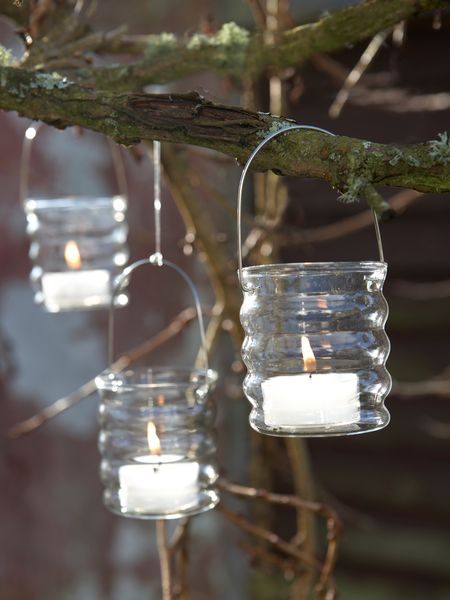 Clear Hanging Tealights