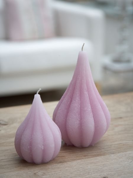 Pastel Lilac Onion Candles