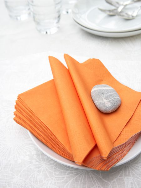 Orange Paper Napkins