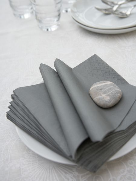 Dove Grey Paper Napkins