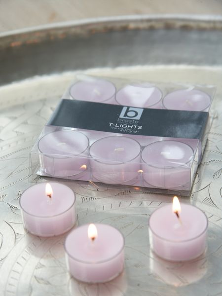 Pastel Lilac Clear Cup Tealights
