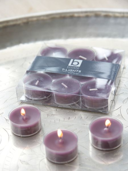 Deep Purple Clear Cup Tealights