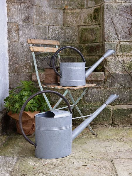 Aged Zinc Watering Can