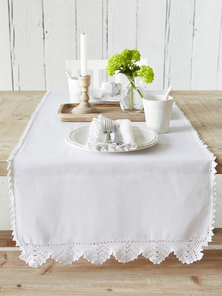 Crochet Trim Table Runner