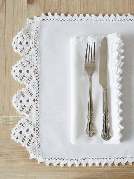 Crochet Trim Table Linens