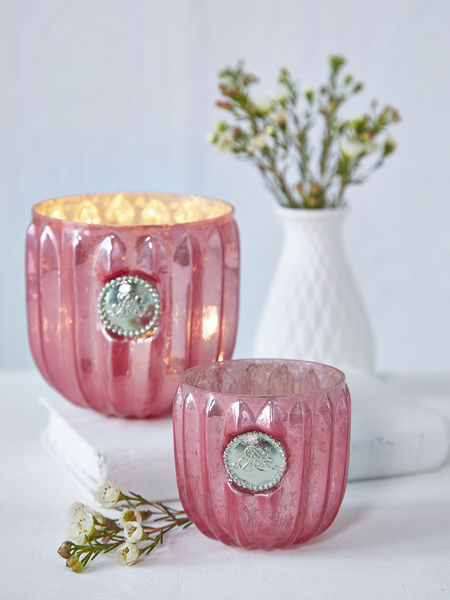 Antique Coral Tealight
