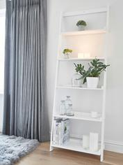 White Wooden Shelf Ladder
