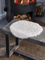 Curly Sheepskin Seat Cover - Ivory