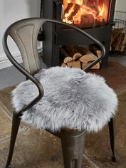 Luxurious Sheepskin Seat Cover - Lt Grey