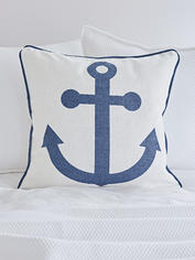 Anchor Cushion - Navy