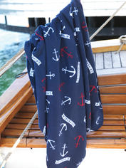 Nautical Fleece Throw - Anchors