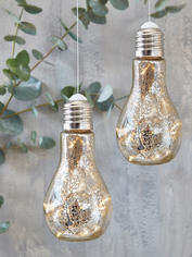 Mercury Silver LED Light Bulb
