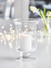 Mini Glass Hurricane Lamp